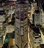 空中晚上悉尼视图 免版税库存图片