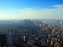 空中更低的曼哈顿新在视图约克 库存图片
