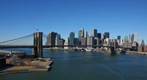 空中曼哈顿全景 免版税库存图片