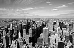 空中曼哈顿视图 库存图片
