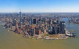空中曼哈顿视图 免版税图库摄影