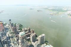 空中曼哈顿视图 免版税库存图片
