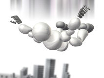 空中机器人战士队伍 免版税库存图片