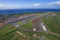 空中机场夏威夷 免版税库存图片