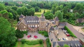 空中杜塞尔多夫德国Schloss Garath, MCE经营业务Petra Wenske 股票视频