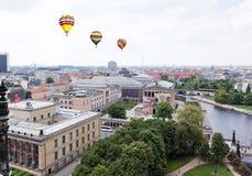 空中柏林中央视图 免版税库存照片