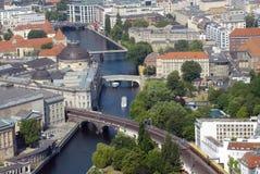 空中柏林视图 免版税图库摄影