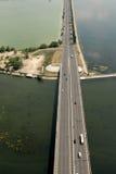 空中桥梁视图 免版税库存图片