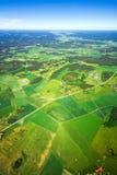 空中横向农村视图 免版税库存图片