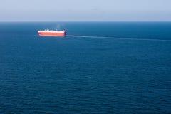 空中汽车运载船海景 图库摄影