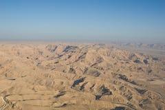 空中沙漠埃及人 免版税库存图片