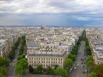 空中法国巴黎街道视图 库存照片