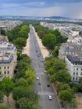 空中法国巴黎街道视图 免版税图库摄影