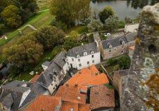 空中法国视图村庄 图库摄影