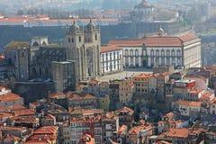 空中波尔图葡萄牙视图 免版税库存图片