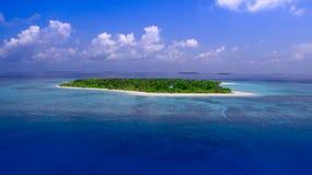 空中海岛小的视图 库存照片