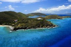 空中海岛视图 库存照片