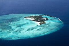空中海岛maldive视图 免版税库存照片