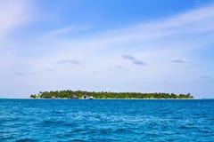 空中海岛maldive视图 库存图片