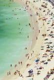 空中海滩场面视图 库存图片