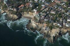 空中海滩拉古纳视图 库存照片