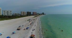 空中海滩视图 股票录像