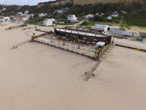 空中海滩视图 免版税库存照片
