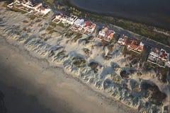 空中海滩视图 免版税图库摄影