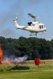 空中消防直升机 库存图片