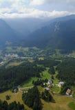 空中淡黄绿谷视图 图库摄影