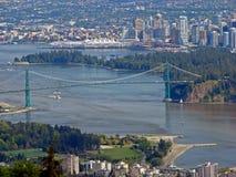 空中温哥华视图 免版税库存照片