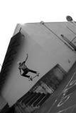 空中溜冰板者 免版税库存图片