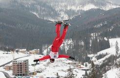 空中滑雪 库存图片