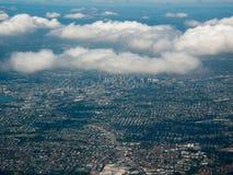 空中澳洲布里斯班市视图 免版税图库摄影
