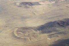 空中火山口视图 免版税图库摄影