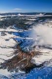 空中照片黄石公园盛大多彩 免版税库存照片