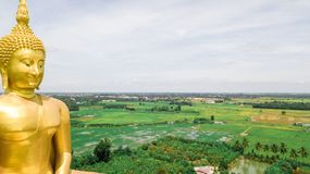 空中照片Wat Muang Ang皮带泰国 库存图片