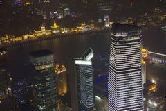 空中瓷上海视图 免版税库存图片