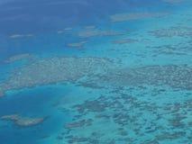 空中礁石视图 库存照片
