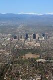 空中科罗拉多丹佛视图 库存图片