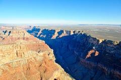 空中科罗拉多峡谷河 免版税库存照片