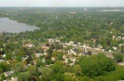 空中米尼亚波尼斯风景 图库摄影