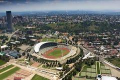 空中约翰内斯堡体育场视图 免版税库存照片