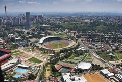 空中约翰内斯堡体育场视图 图库摄影