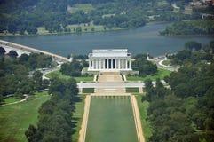 空中纪念碑视图华盛顿 免版税图库摄影