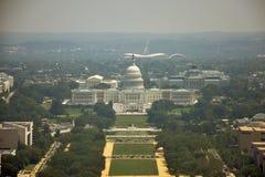空中纪念碑视图华盛顿 免版税库存图片