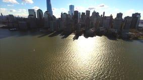 空中纽约地平线 股票录像