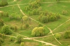 空中绿色树型视图 免版税库存照片