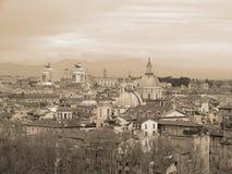 空中罗马视图 免版税库存照片