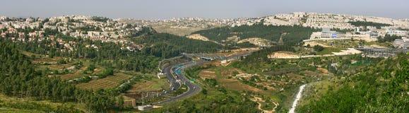 空中耶路撒冷全景 免版税库存照片